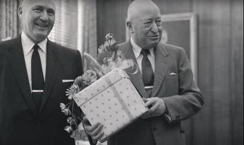 Archibald Bush with a Gift