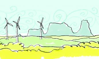 Windmills illustration