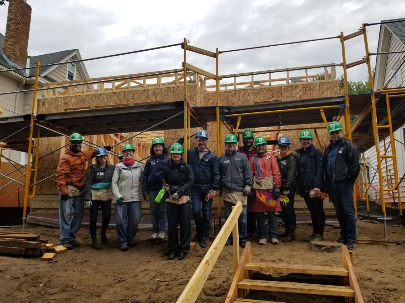 Staff volunteer day with Habitat for Humanity