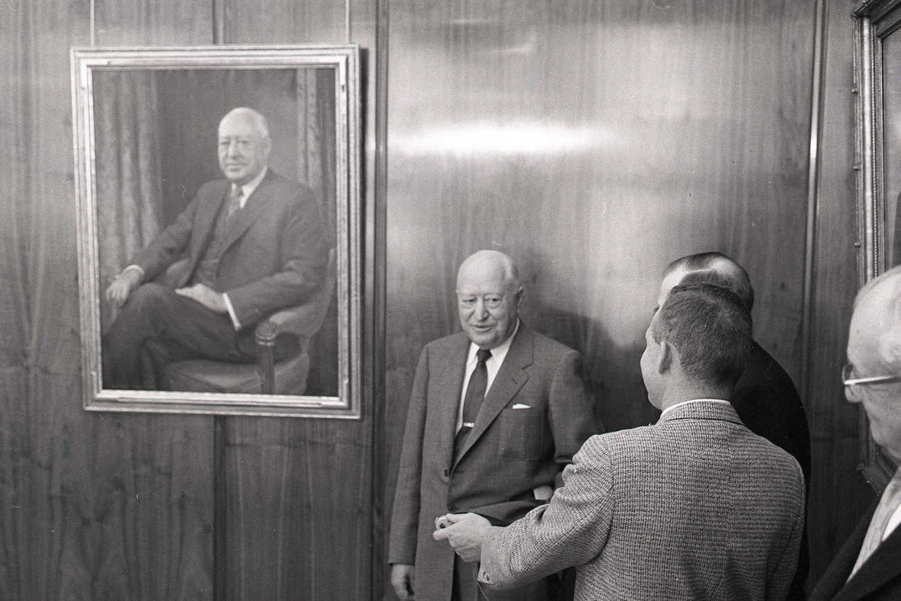 Unveiling of Archibald Bush's portrait