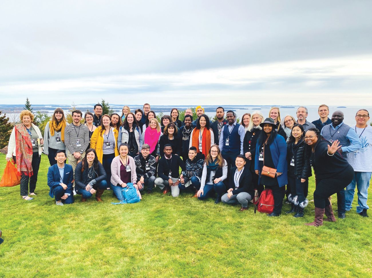 Fifty regional leaders attended PopTech at Point Lookout in Northport, Maine.