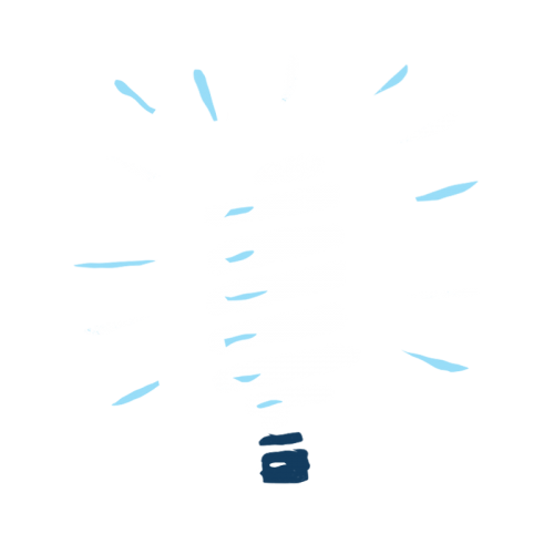Illustrated lightbulb